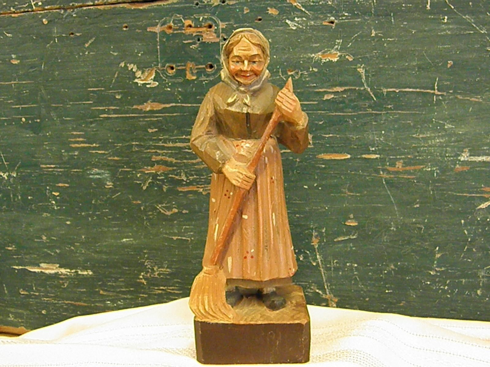Female Wood Carving Hand carved Figurine