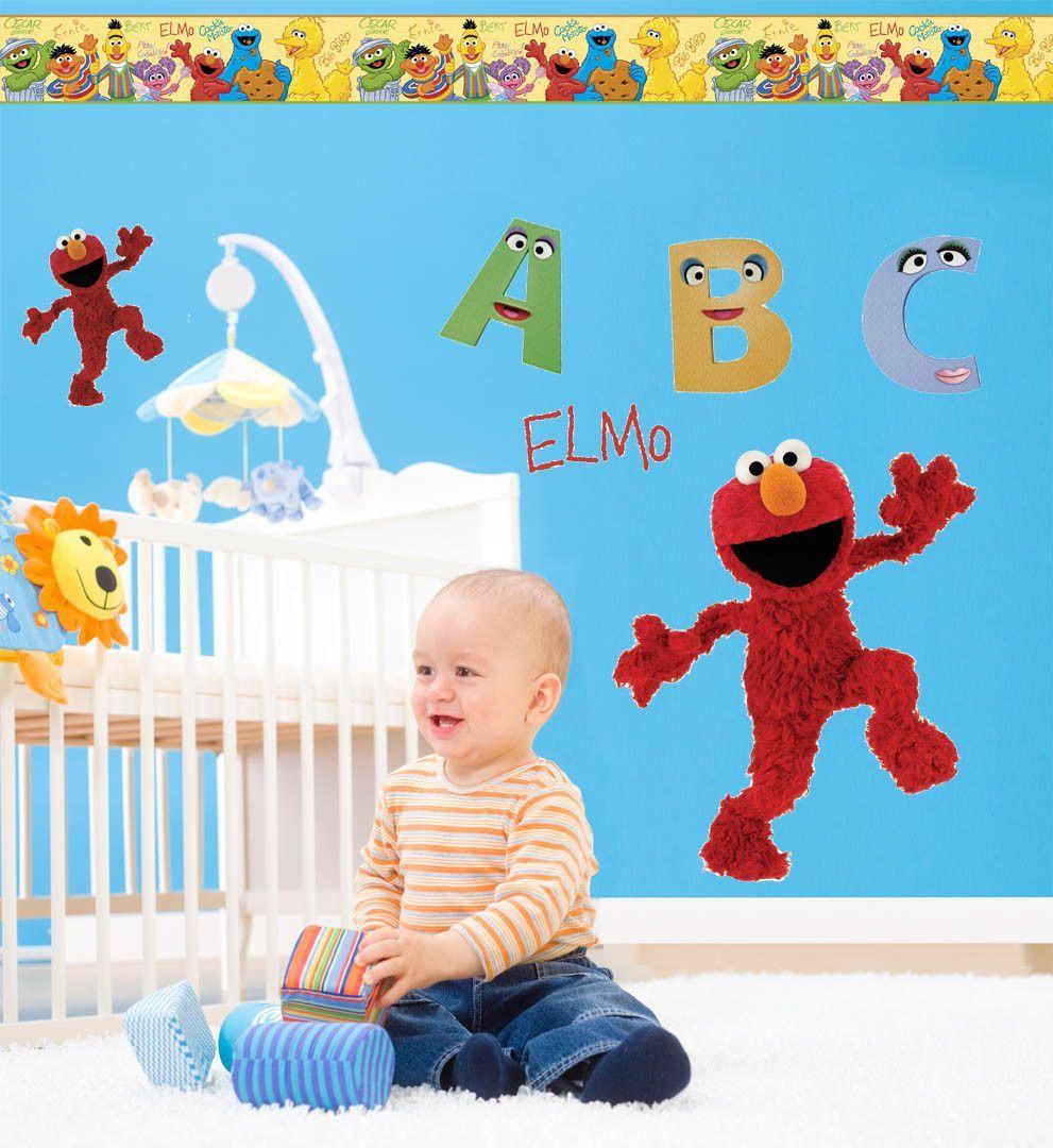 Sesame Street Elmo Room Makeover Wall Decal | Sesame streets ...