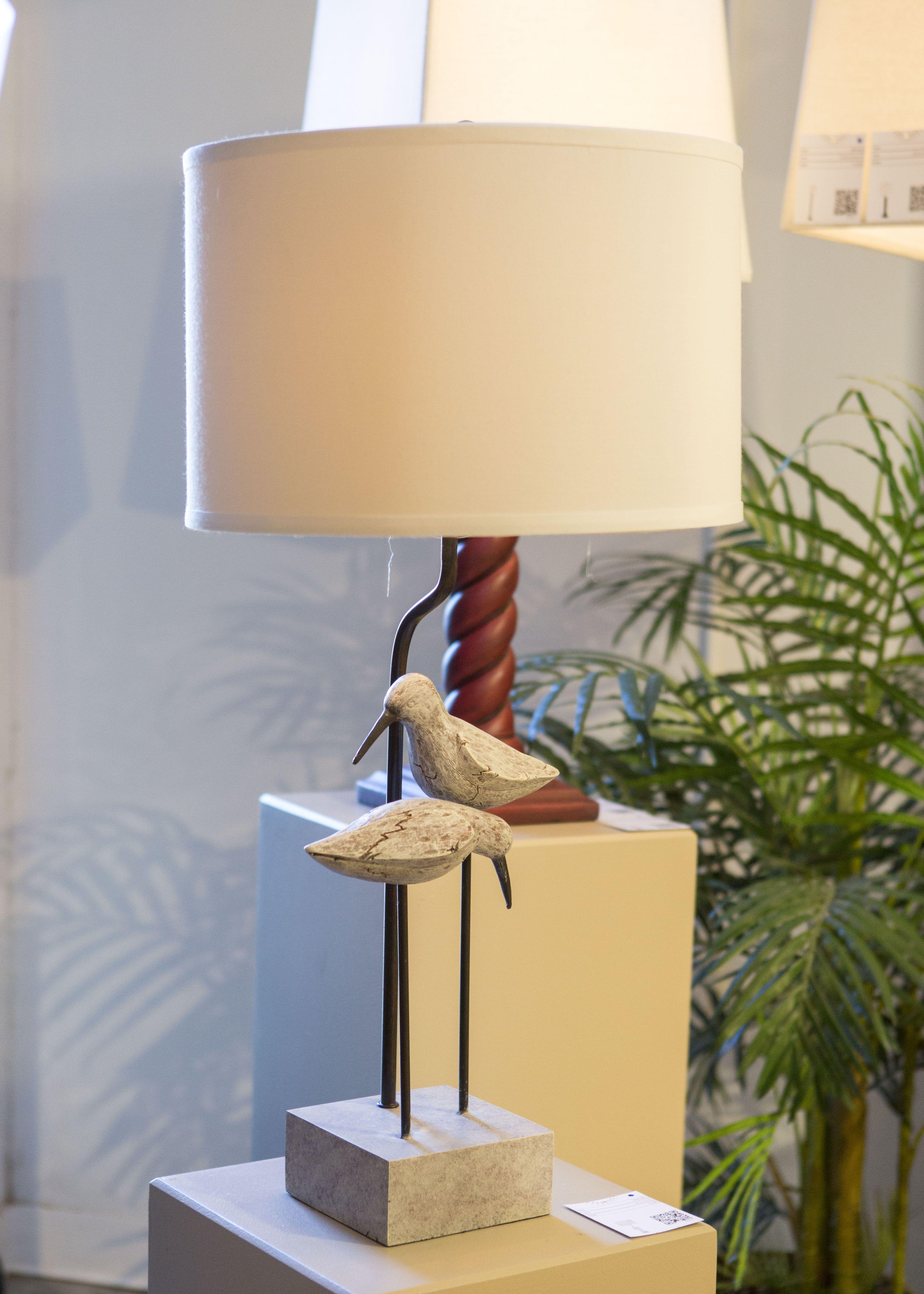 Lighting display at Atlanta Winter Market 2015-Seagull lamp base ...
