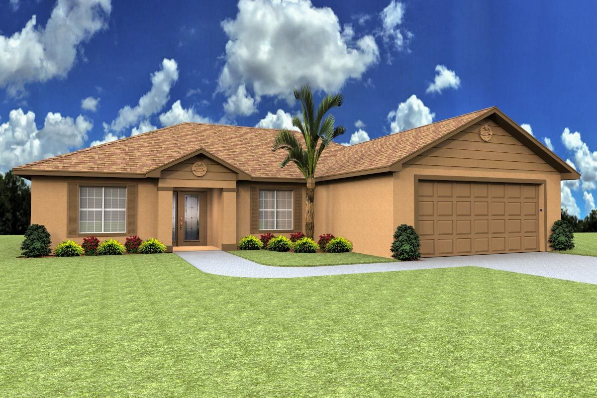 Traditional Florida 3 bed Home Plan