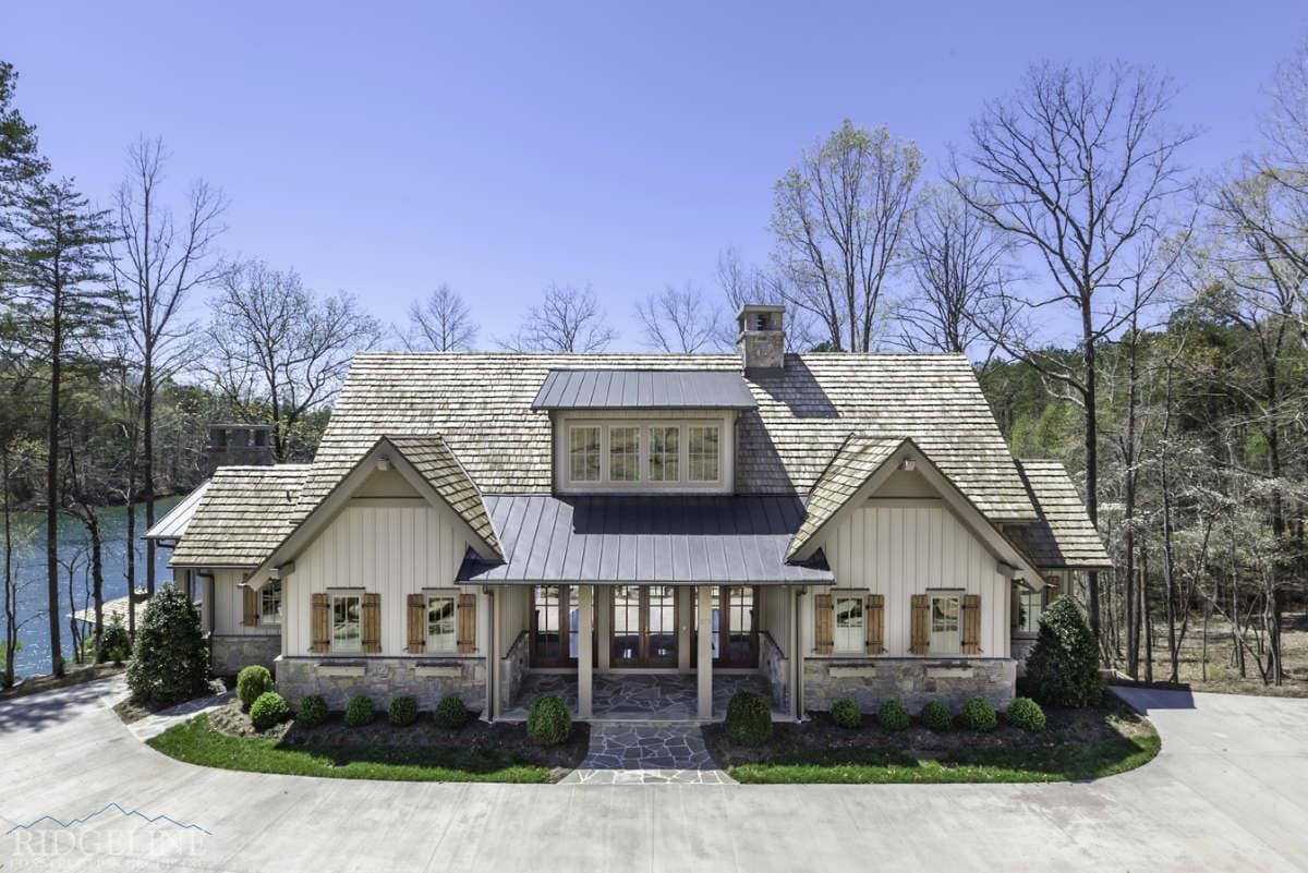 Lakefront Residence Vii Ridgeline Construction Group Craftsman Style House Plans Lake Houses Exterior Mountain Home Exterior