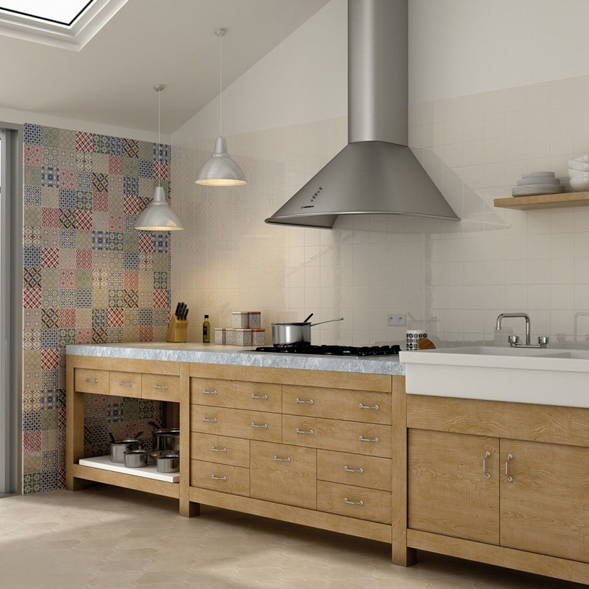 Wall Tiles For Kitchen 10x10 Kirkby Patchwork Kitchen Wall Tiles Wall Tiles Tile