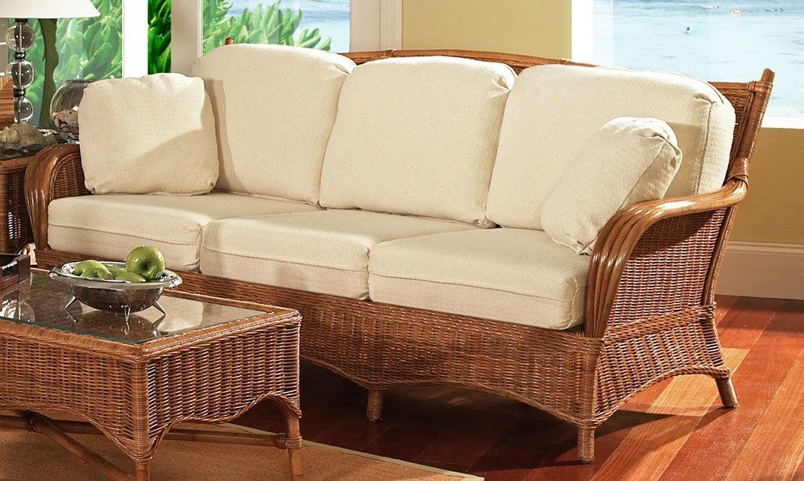 Bodega Bay Rattan Wicker Queen Sleeper Sofa from Classic