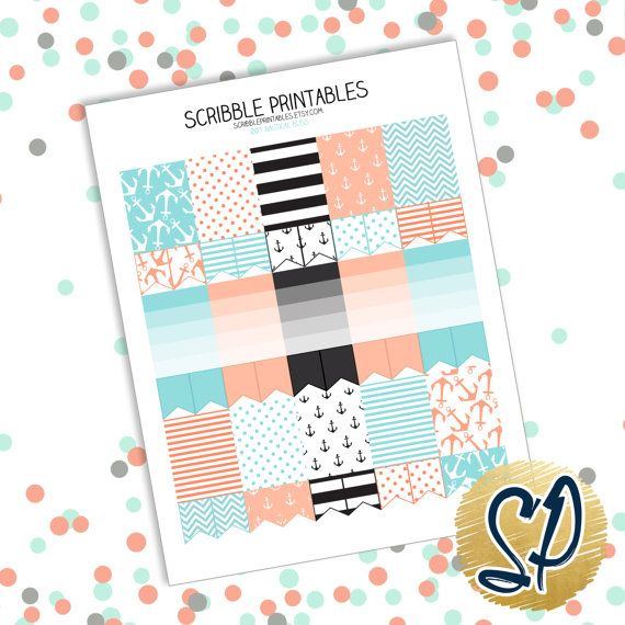 001 Nautical // Printable Planner Stickers PDF (Perfect for Erin Condren Life Planners)
