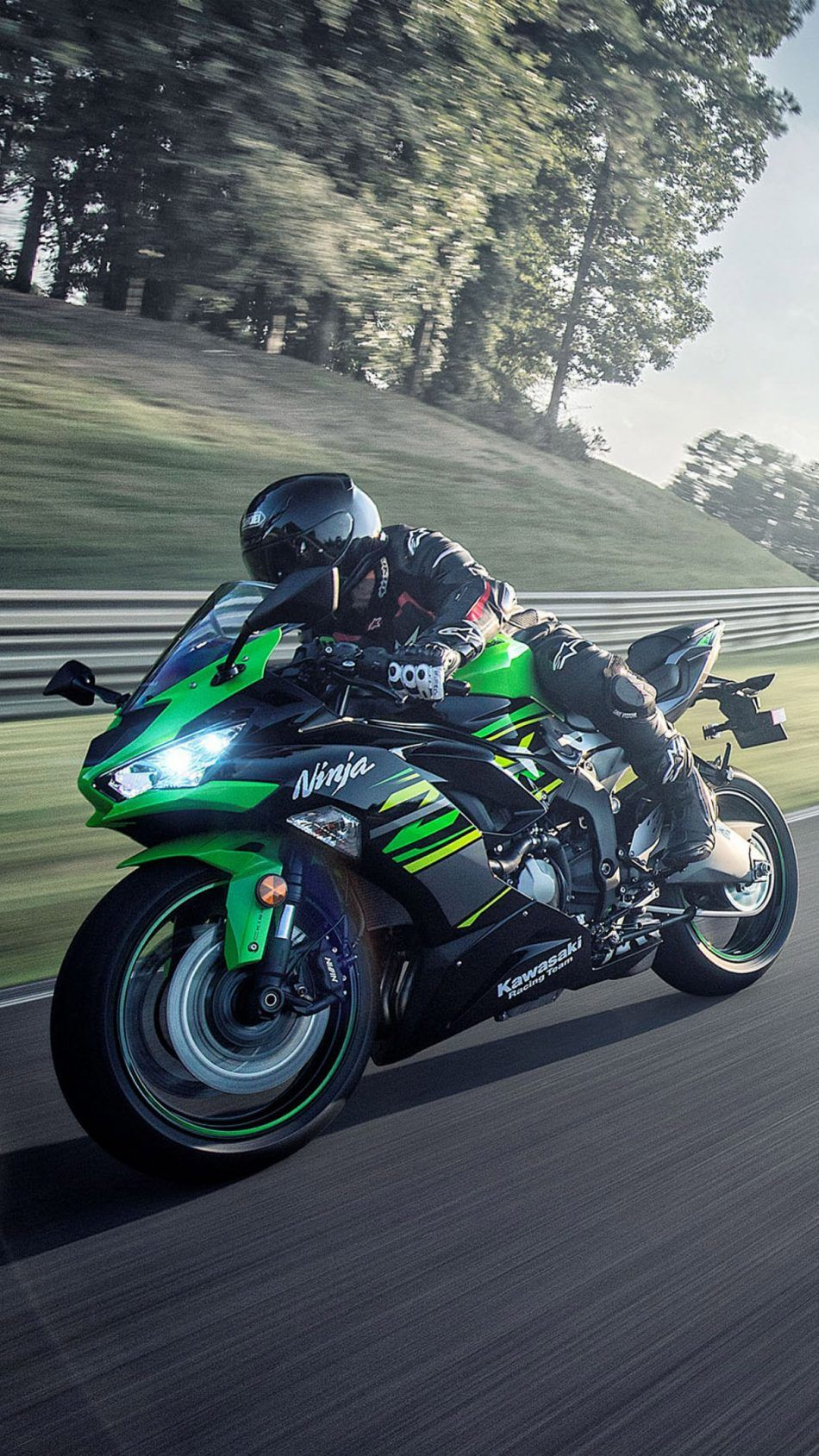 Kawasaki Ninja Zx 6r 2019 Green Black Bike Wallpapers Kawasaki