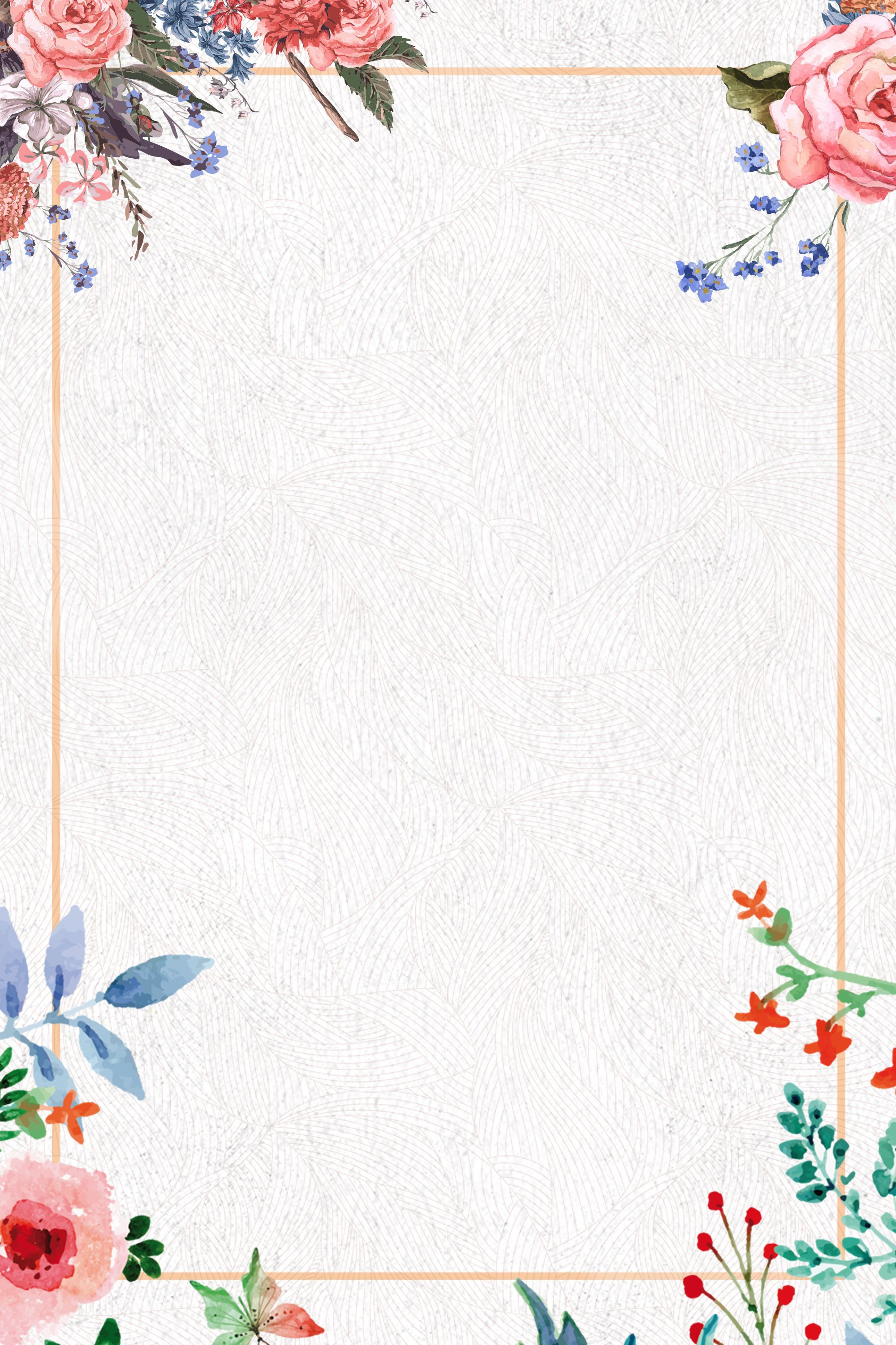 Small Clear Flower Watercolor Background Psd Layered Advertising