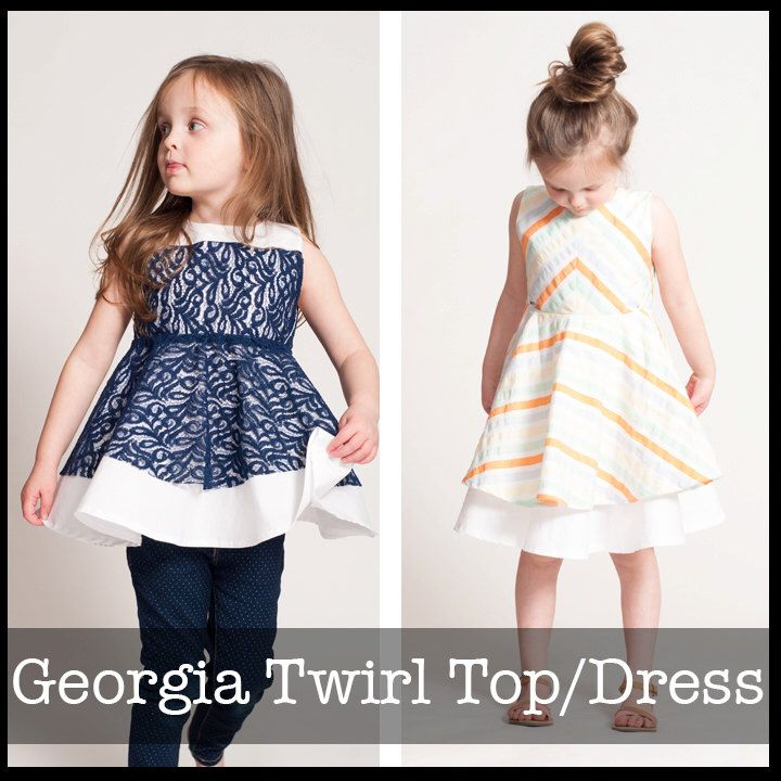 Georgia Twirl Dress and Tunic PDF sewing pattern | Sewing for Leah ...