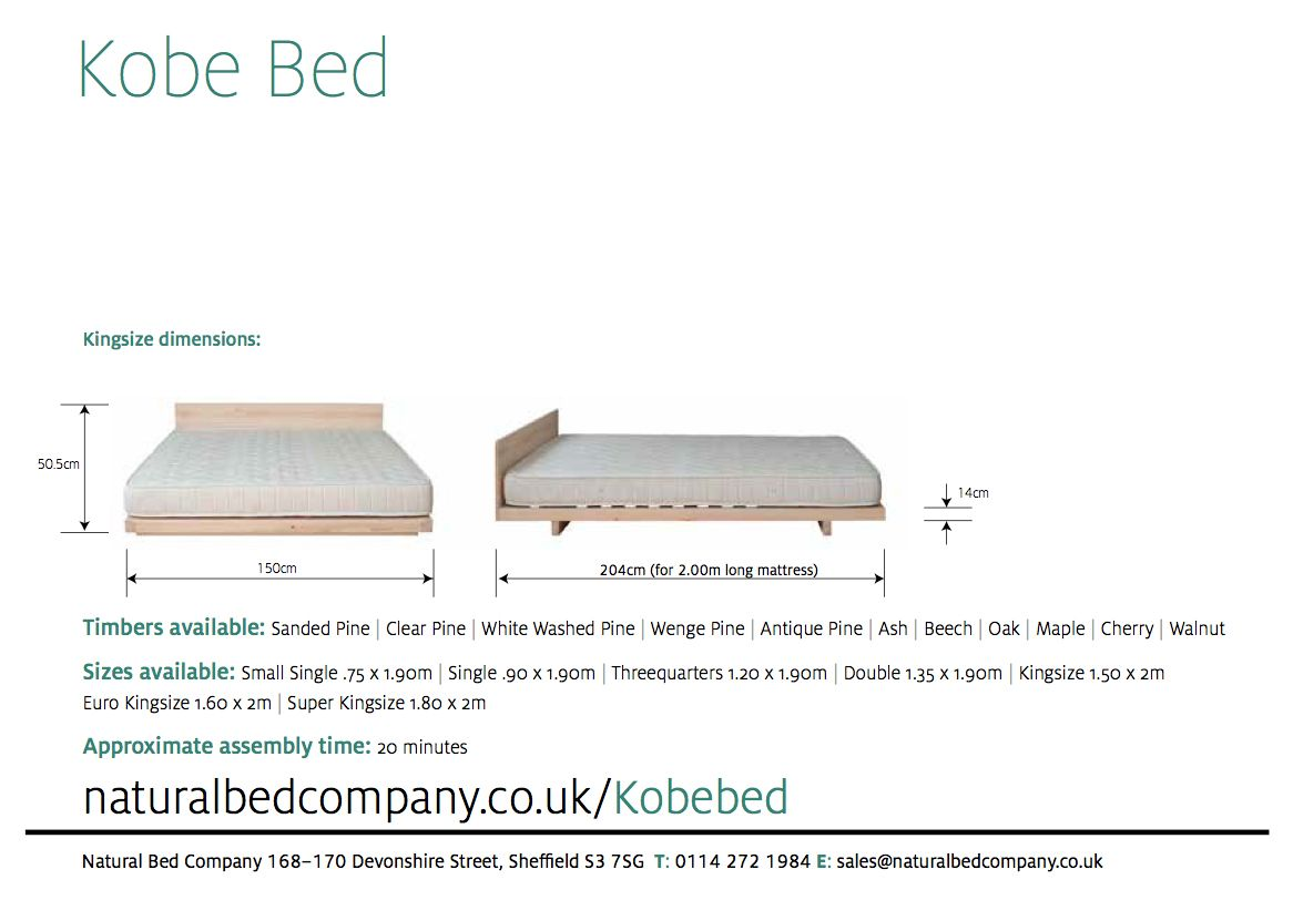kobe bed with dimensions | Furniture | Pinterest | Möbel