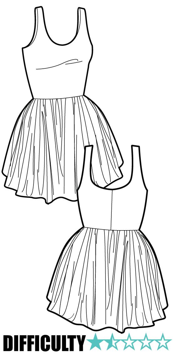 skater dress $4 pattern | Dresses | Pinterest | Pink patterns ...