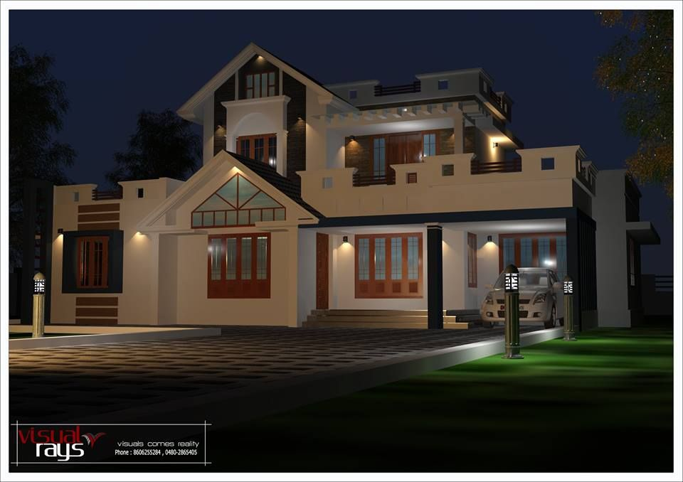3 bedroom villa for 35 lakhs in kerala, Kerala House Plans with Cost ...