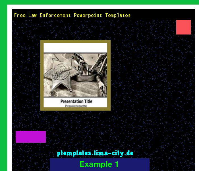 Free Law Enforcement Powerpoint Templates Powerpoint Templates