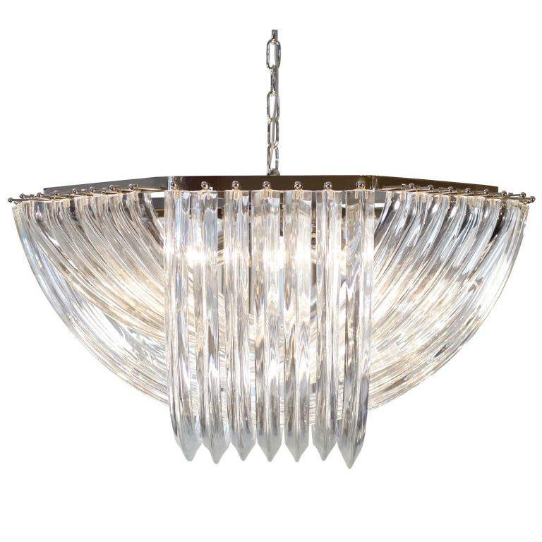 Murano Glass Chandelier By Venini 1stdibs Depth 31 In 79 Cm