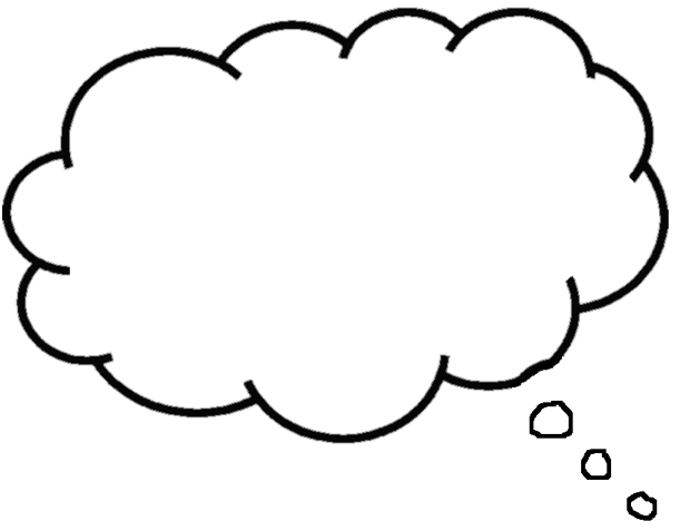 Stop Trying To Control Your Thoughts Thought Bubbles Balloon Template Free Clip Art
