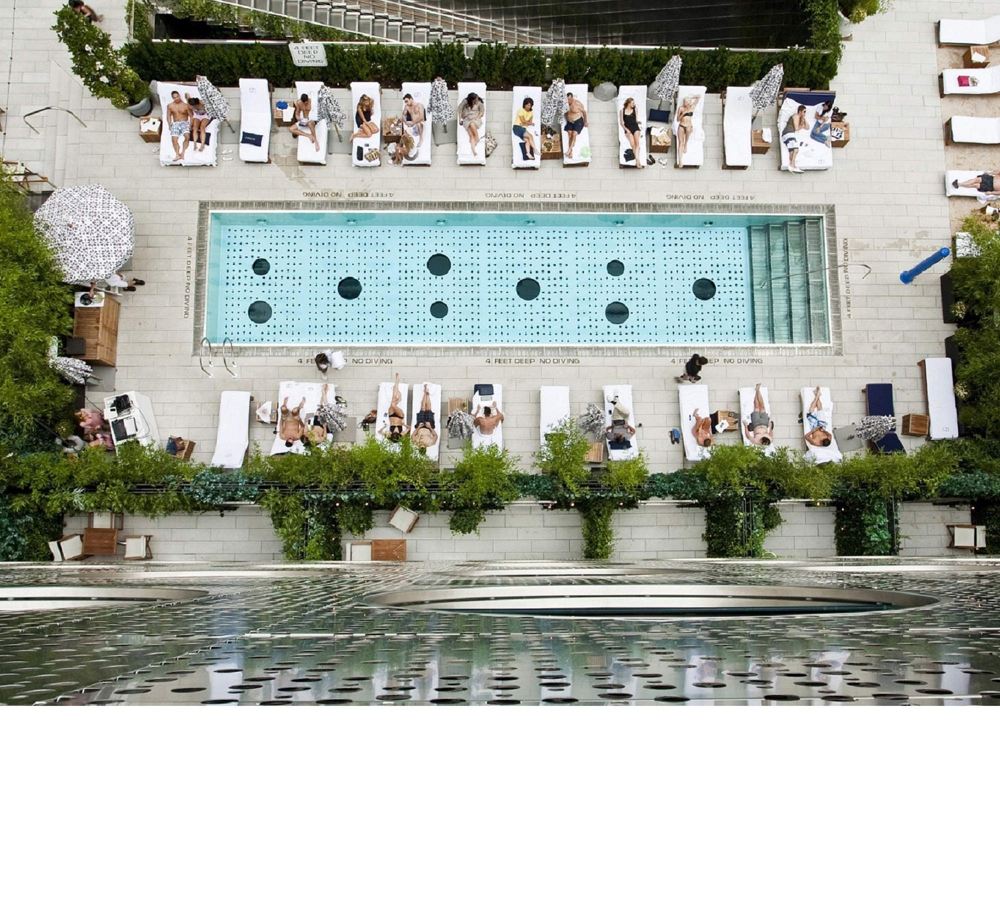 How to sneak into 13 hotel pools in manhattan vacations - Hotel new york swimming pool roof ...