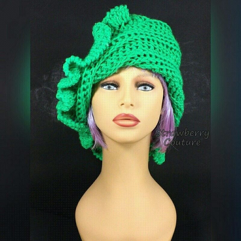 Get out the black light and glow in the dark with neon green. CYNTHIA ruffle crochet beanie hat http://ift.tt/1MlX4ng #crochet #crochetaddict #crocheting #crochetlove #crochethat #hat #beaniehat #beanie #beani #beanies #neongreen #neon #green #ruffles #ruffle #etsy #shopping #gifts #etsyfinds #etsyseller #etsylove #etsystore #twist #handmade #vogue #voguemagazine #coiffure #casual #strawberrycouture #strawberrycouture1970
