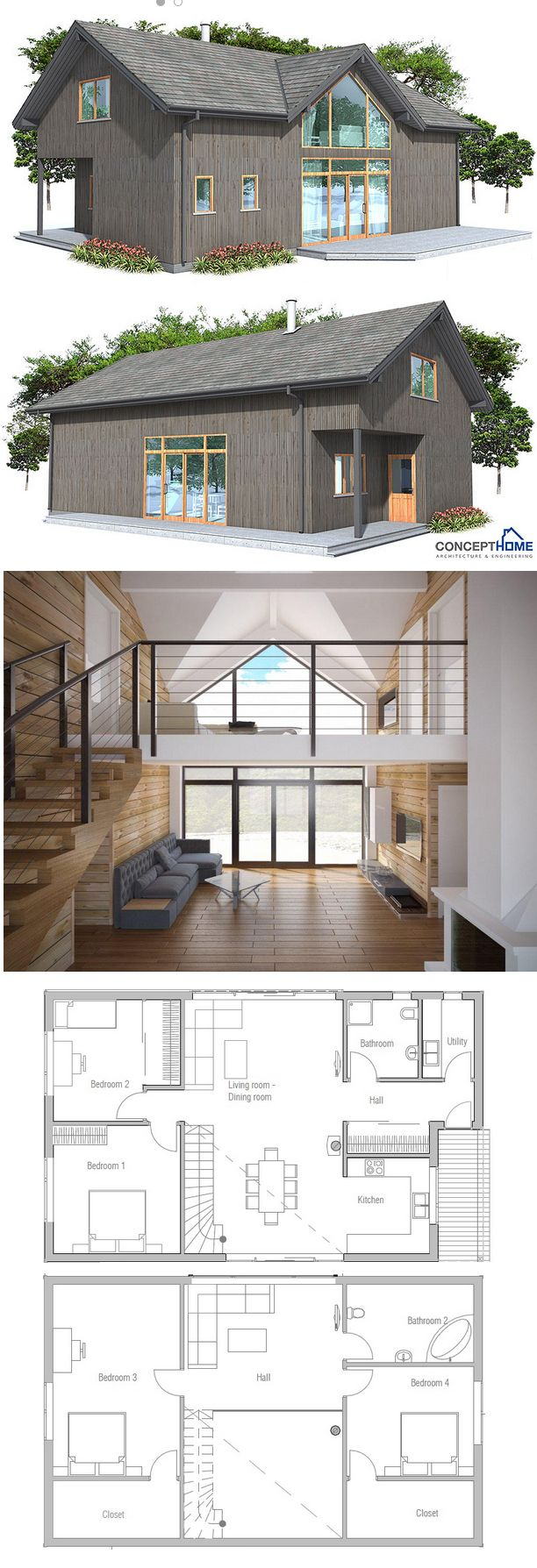 Modern House Ch21 Modern House Plans House Layouts House Plans