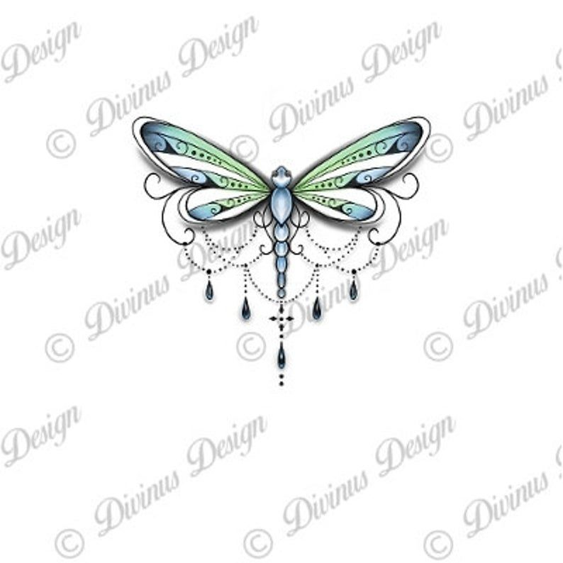Dragonfly Tattoo Design And Stencil Instant Digital Download Etsy In 2020 Dragonfly Tattoo Design Small Dragonfly Tattoo Dragonfly Tattoo