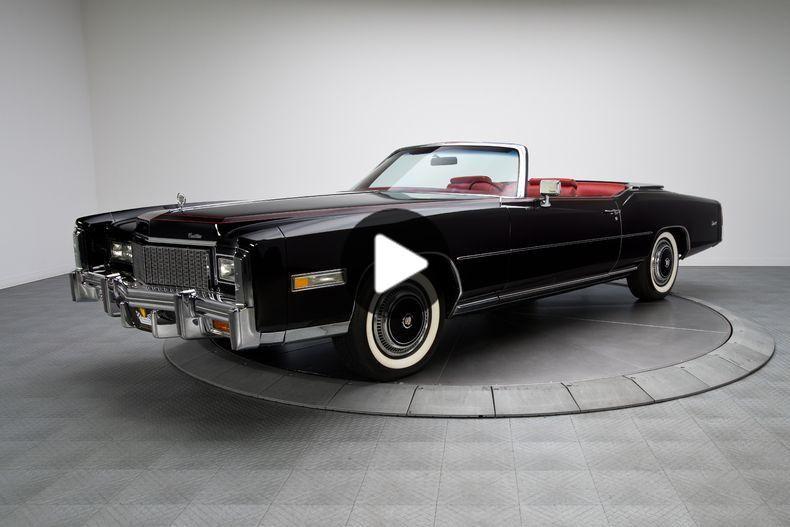 1976 Sable Black Cadillac Eldorado Convertible 500 V8 Survivor