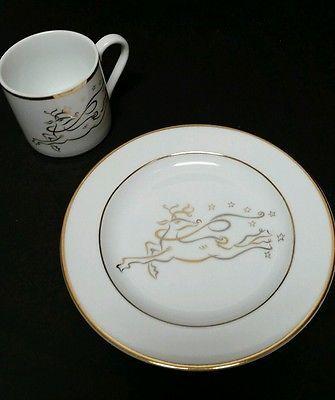 The Rudolph Company Reindeer Plate & Mug Set Christmas Dinnerware ...