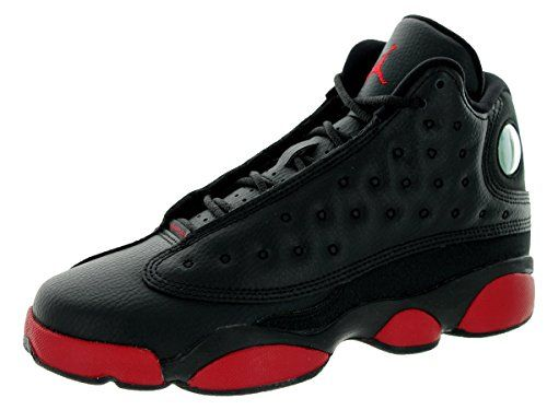 Nike Jordan Kids Air Jordan 13 Retro BG Black Gym Red Basketball Shoe 7  Kids US
