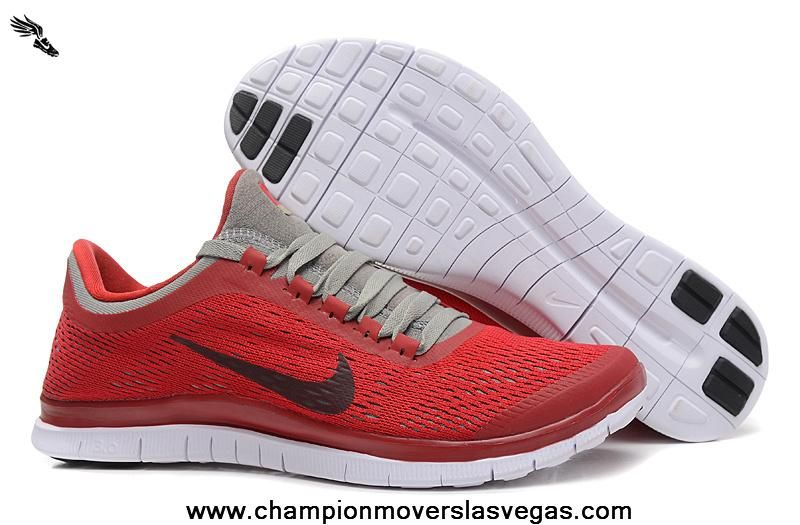 580393-600 Nike Free 3.0 V5 Mens Shoes Red Gray