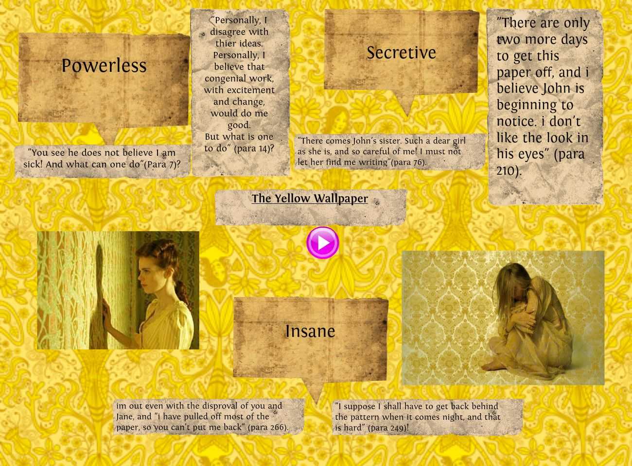 A Tale Of Two Cities Essay Yellow Wallpaper Essay Essays And Criticism On Charlotte Perkins Gilmans  The Yellow Wallpaper  Critical Essays Gm Foods Essay also Persuasive Essay College Examples The Yellow Wallpaper Short Story Analysis  Best Games Wallpapers  Essay Fahrenheit 451