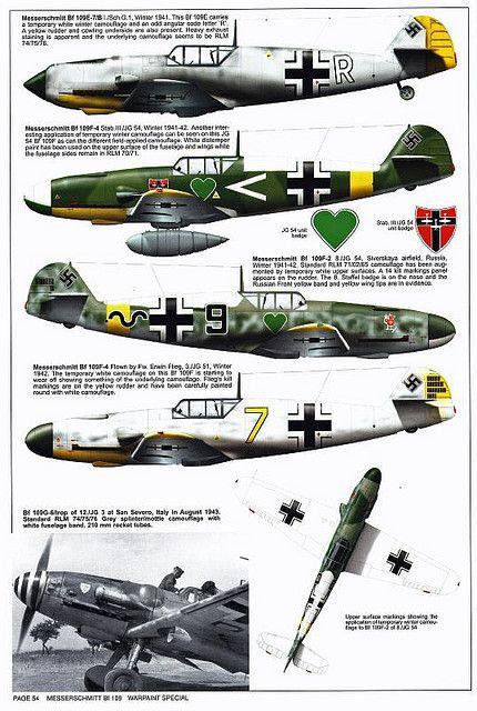 Bf 109 F, F1, F2, F4 and F4 Trop varian``s