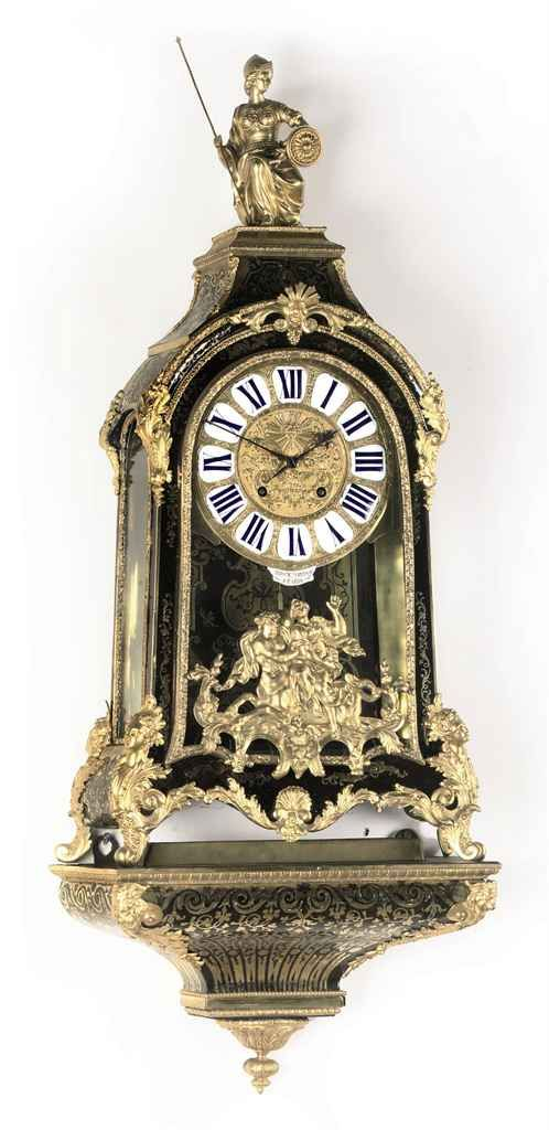 a regence and boulle marquetry striking bracket clock with wall bracket jerome