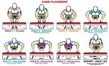 Push Ups - hands position -