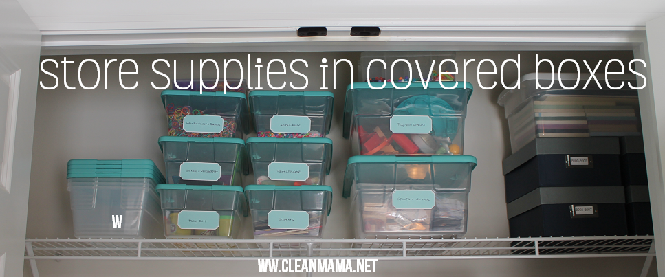 Craft Storage That Really Works Covered Boxes Clean Mama Store Supply