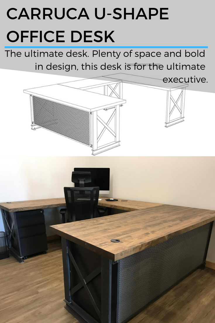Carruca U Shape Office Desk The Ultimate Desk Plenty Of Space And Bold In Design This Des U Shaped Office Desk Office Furniture Design Home Office Furniture