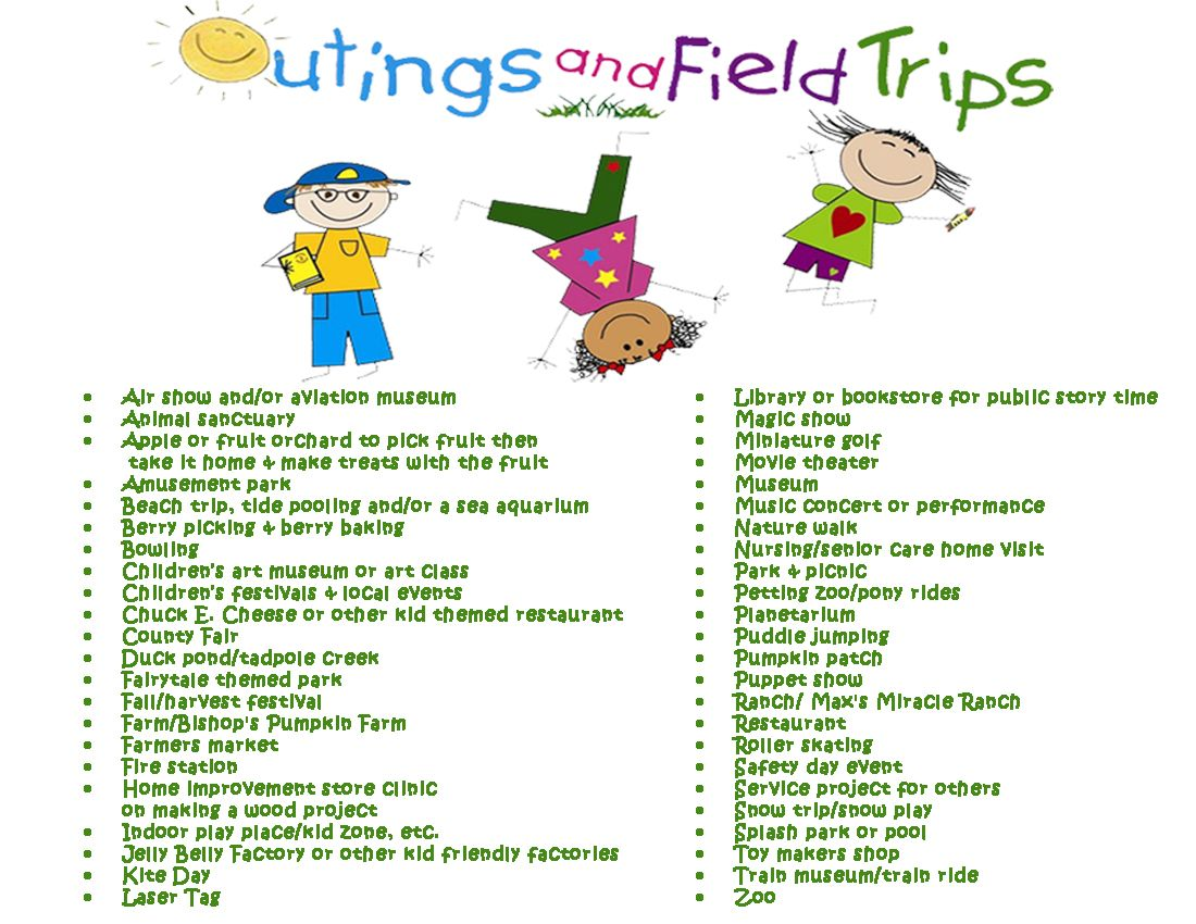 outings & field trip ideas | other resources for parents, care