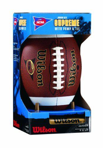 Wilson NCAA Supreme Junior Football with Pump /& Tee