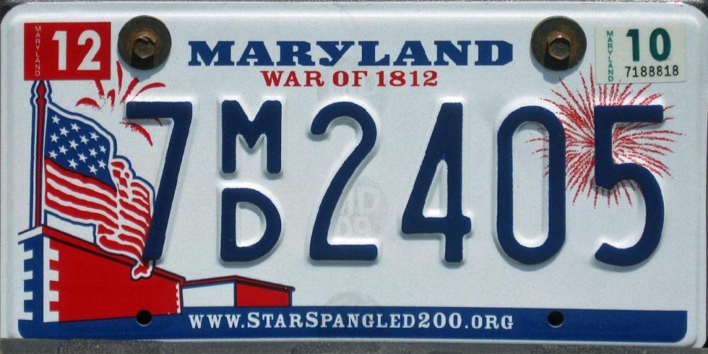 "Washington State Flag Vanity Licence Plate 6/"" x 12/"" Aluminum Plate"