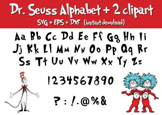 picture relating to Dr Seuss Letters Printable referred to as Dr seuss Alphabet printable Electronic letters font Clipart