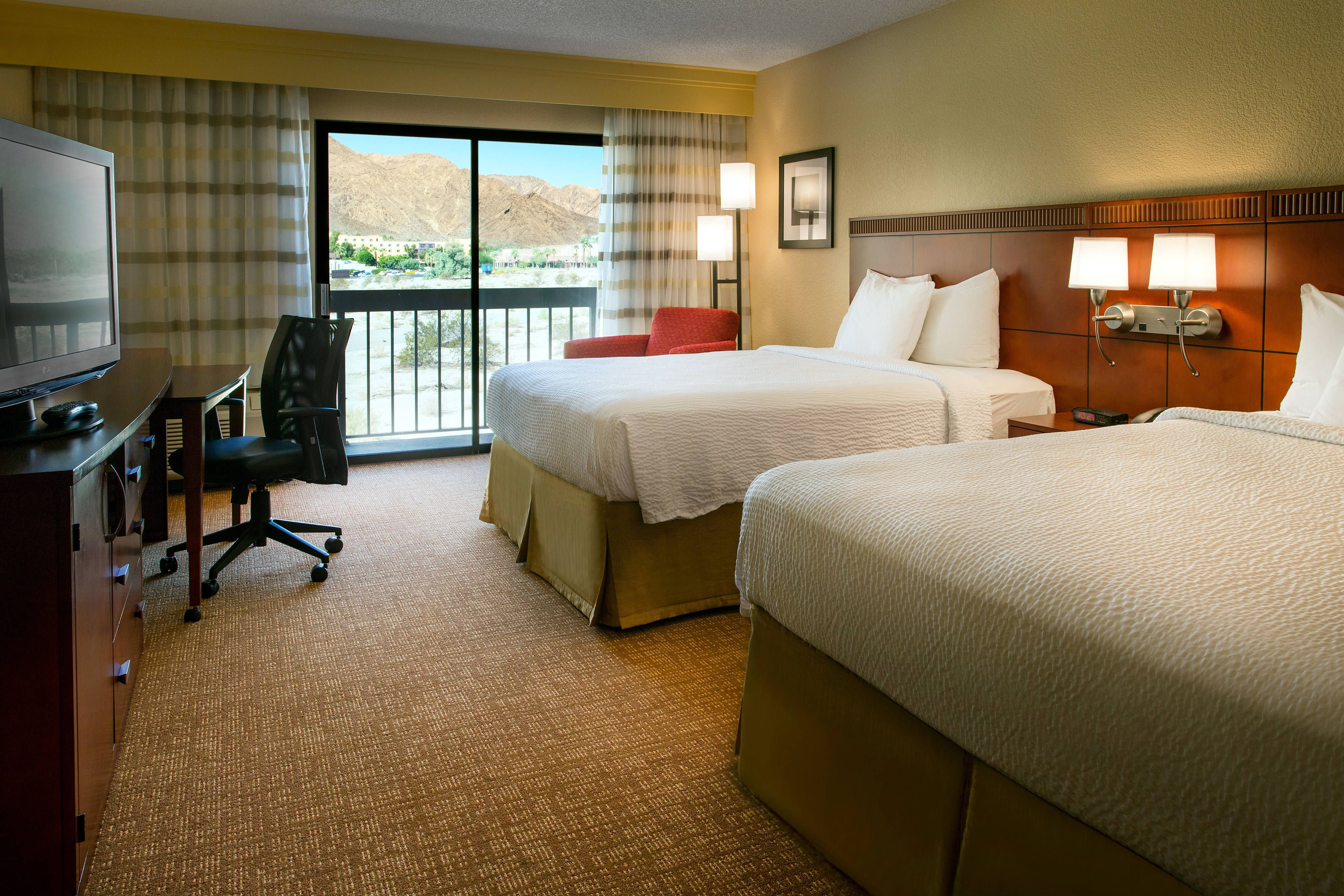 Courtyard Palm Springs Queen/Queen Guest Room #Suite, #holiday ...