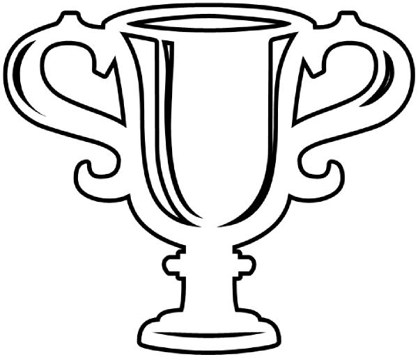 trophy template trophy outline clip art vector clip art online
