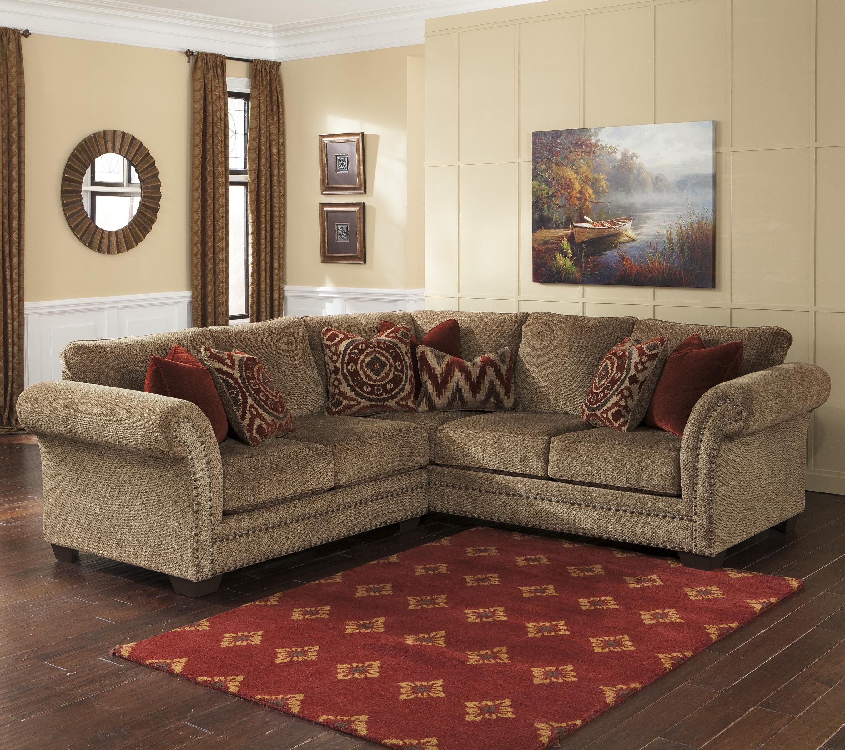 Best Grecian Amber 2 Piece Sectional With Left Loveseat By Benchcraft Living Room Furniture 640 x 480