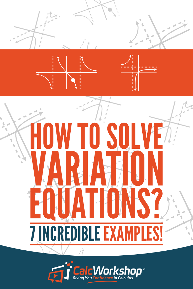 Variation Equations Excellent Video Lesson With 7 Example Problems