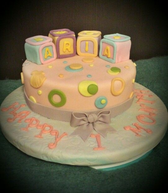 1st Month Baby Cake