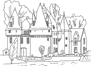 Castle Princess Coloring Page Sand
