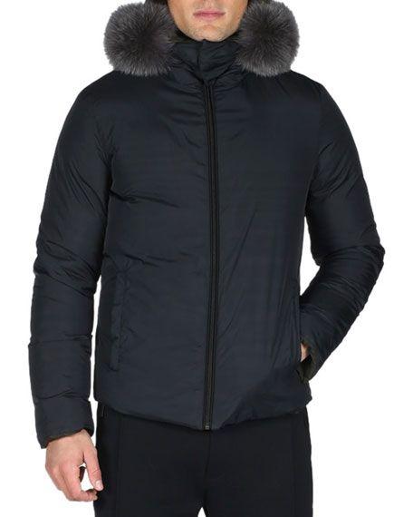 1a2eb2084a FENDI Reversible Monster Down Ski Jacket With Fur Trim