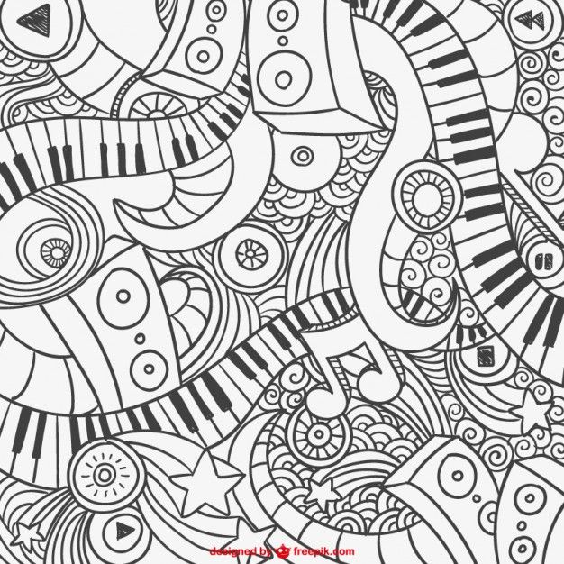 Nifty image within music coloring pages printable