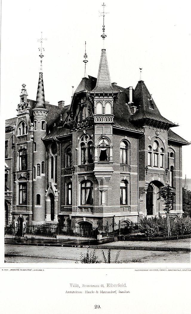 Architekten Wuppertal doppelt villa roonstrasse 41 elberfeld architekten haude