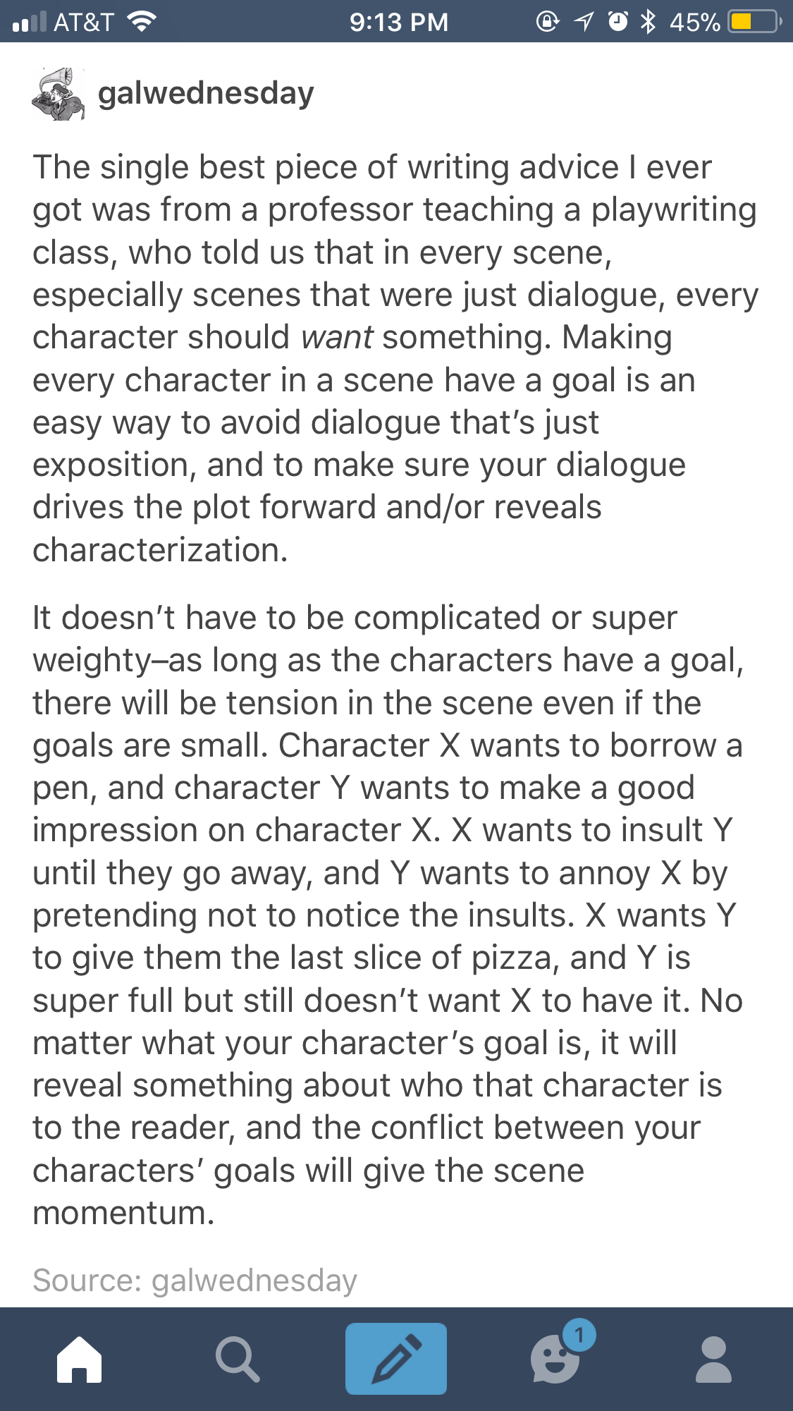 this is really fucking good advice | writing tips/tumblr posts