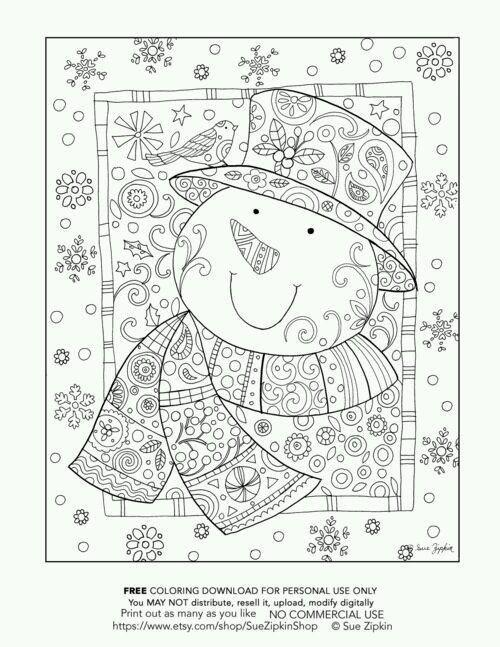 Snowman | Coloring Picture | Pinterest | Dibujos para pintar ...
