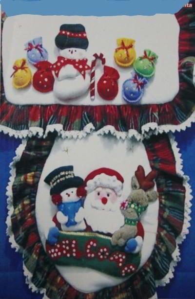 Patrones y Moldes de Juegos de Baños para Navidad en Fieltro GRATIS!!   EcoArtesanias.com