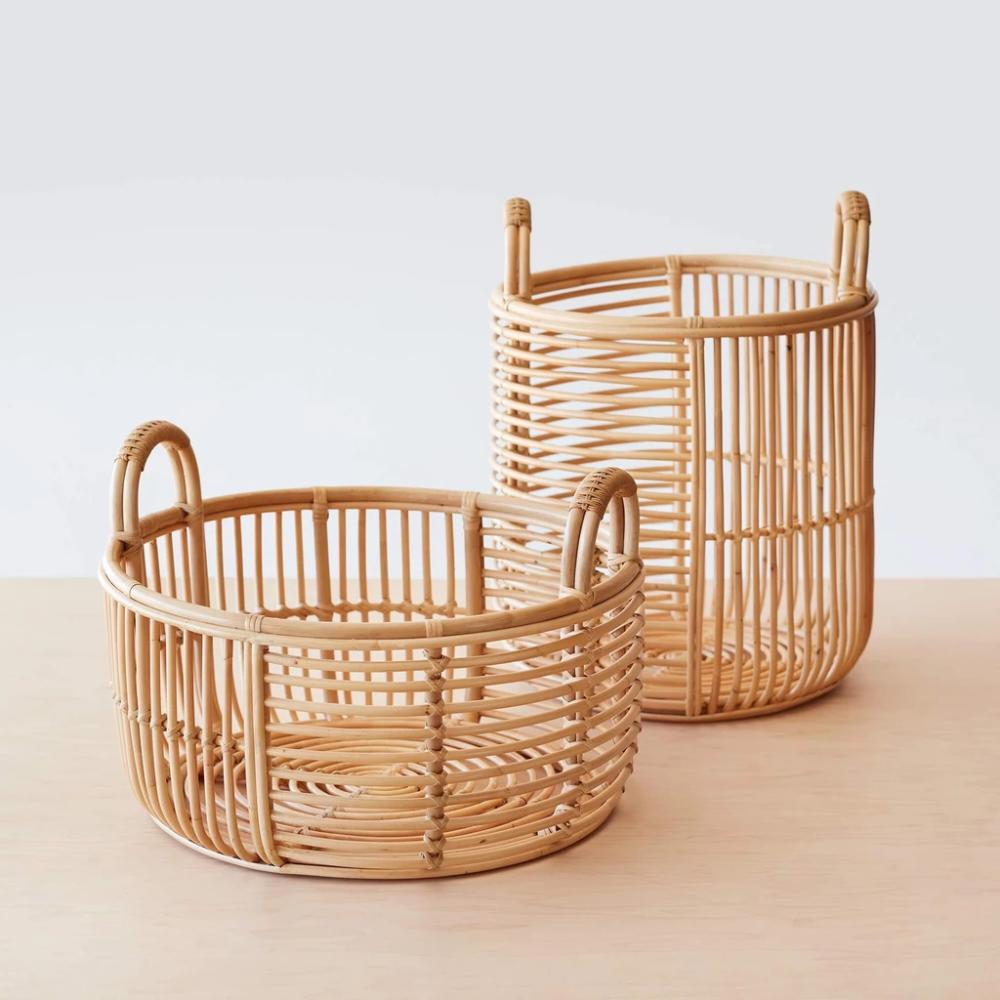 Java Rattan Baskets In 2020 Rattan Korb Und Kiste