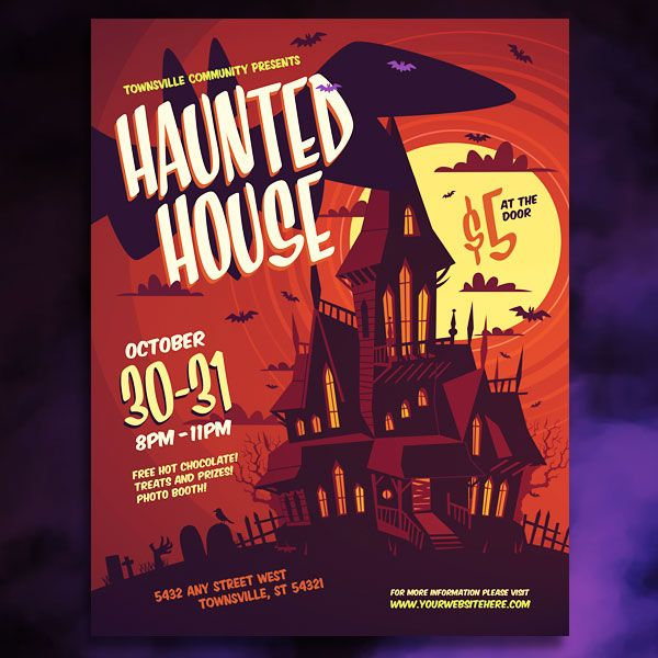 Get In The Spirit With Creative Design Templates For A Haunted House