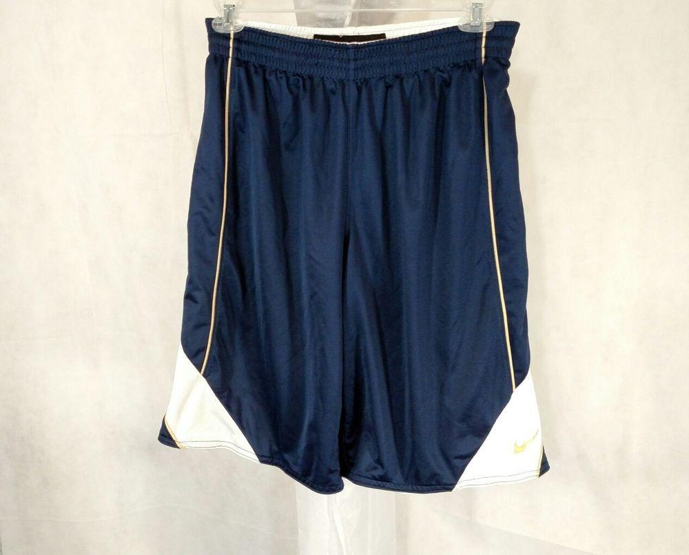 Nike drifit basketball shorts athletic men size m blue